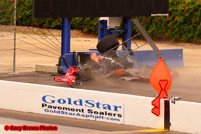 Mike Austin TAD Crash at 2012 Winternationals